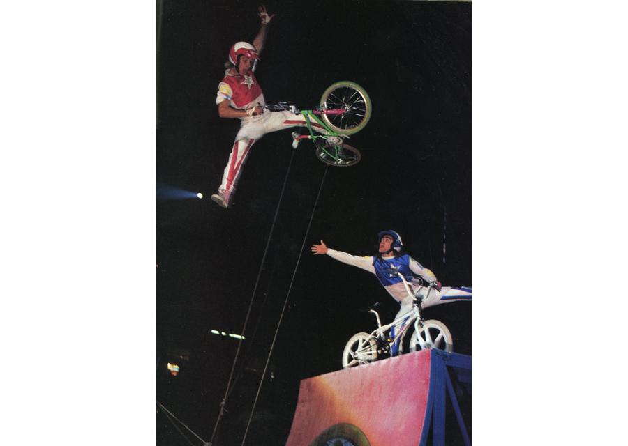 "Randy ""The Magician"" TIschmann in BMX Plus 1987"