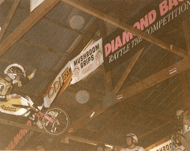 "Randy ""The Magician"" Tischman at the 1986 2-Hip King of Vert in Le Sueur, MN photo by Ken Paul"