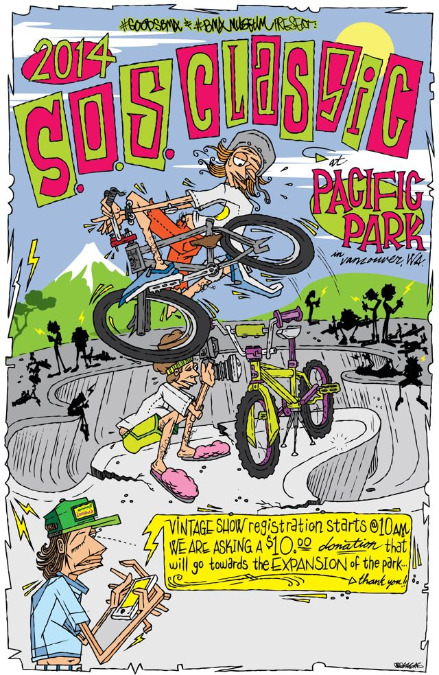 2014 Goods & BMX Museum SOS Classic Flyer by Greg Higgins