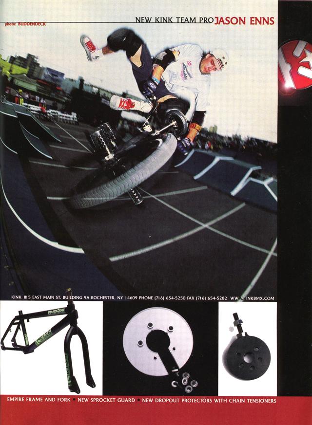Jason Enns // Tailwhip // Kink BMX Empire Frame Ad