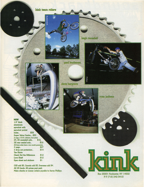 Paul Buchanan // Leigh Ramsdell // Ryan Jackson // Kink BMX ad