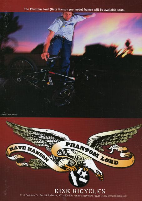 Nate Hanson // Kink BMX // Phantom Lord Ad